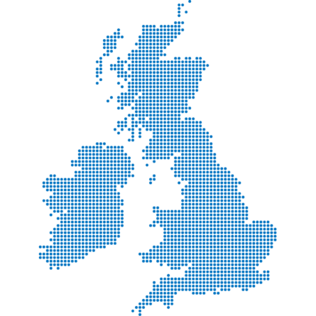 Decorative map of the UK